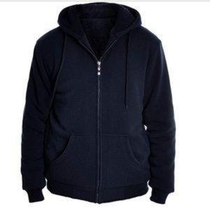 Espada Men's Full-Zip Sherpa-Lined Hoodie Jacket